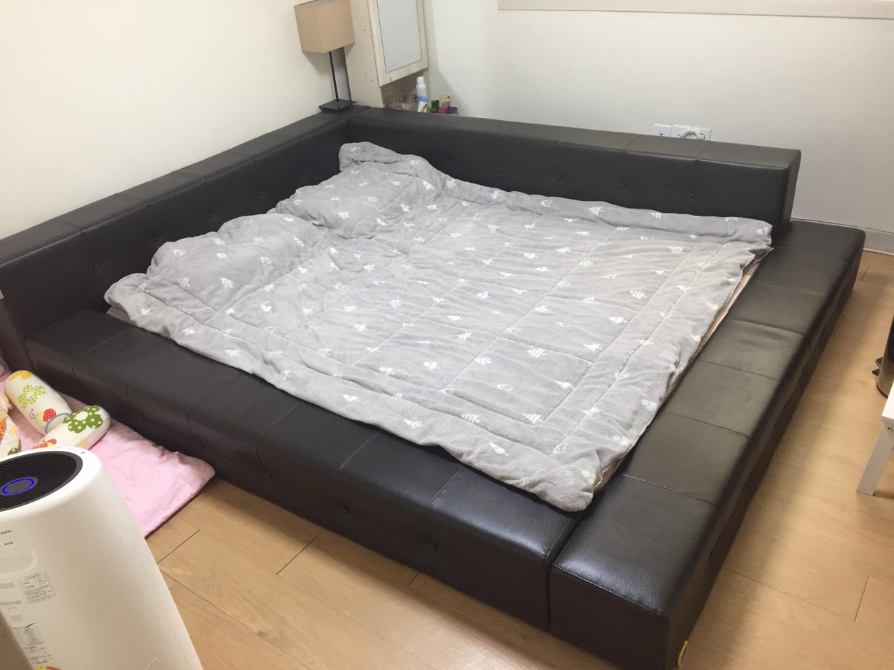 (드림)까사온 저상형 퀸사이즈 침대 프레임