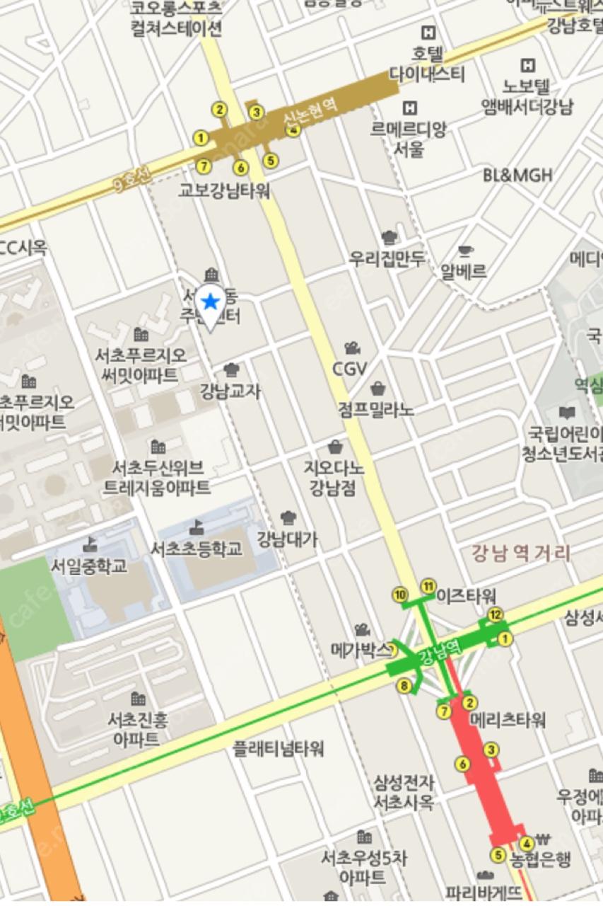 강남역/신논현역 월주차권 11만원