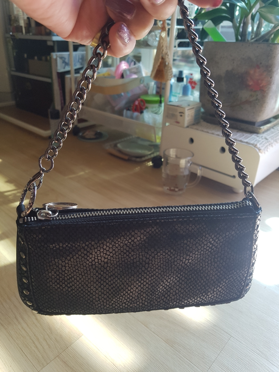 돈피 장지갑 가방...
