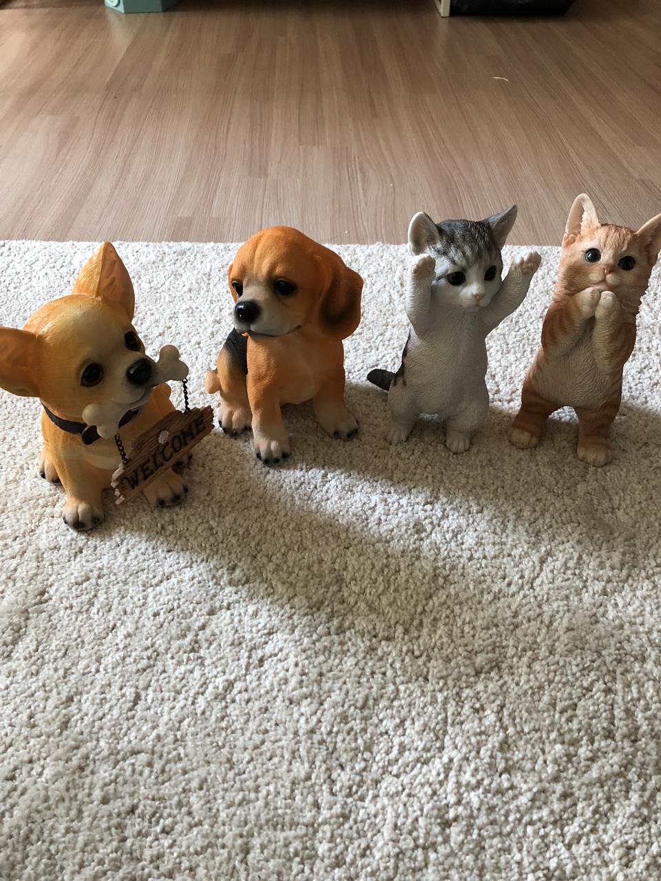 소품)강아지2,고양이2 각 판매 또는 일괄판매^^