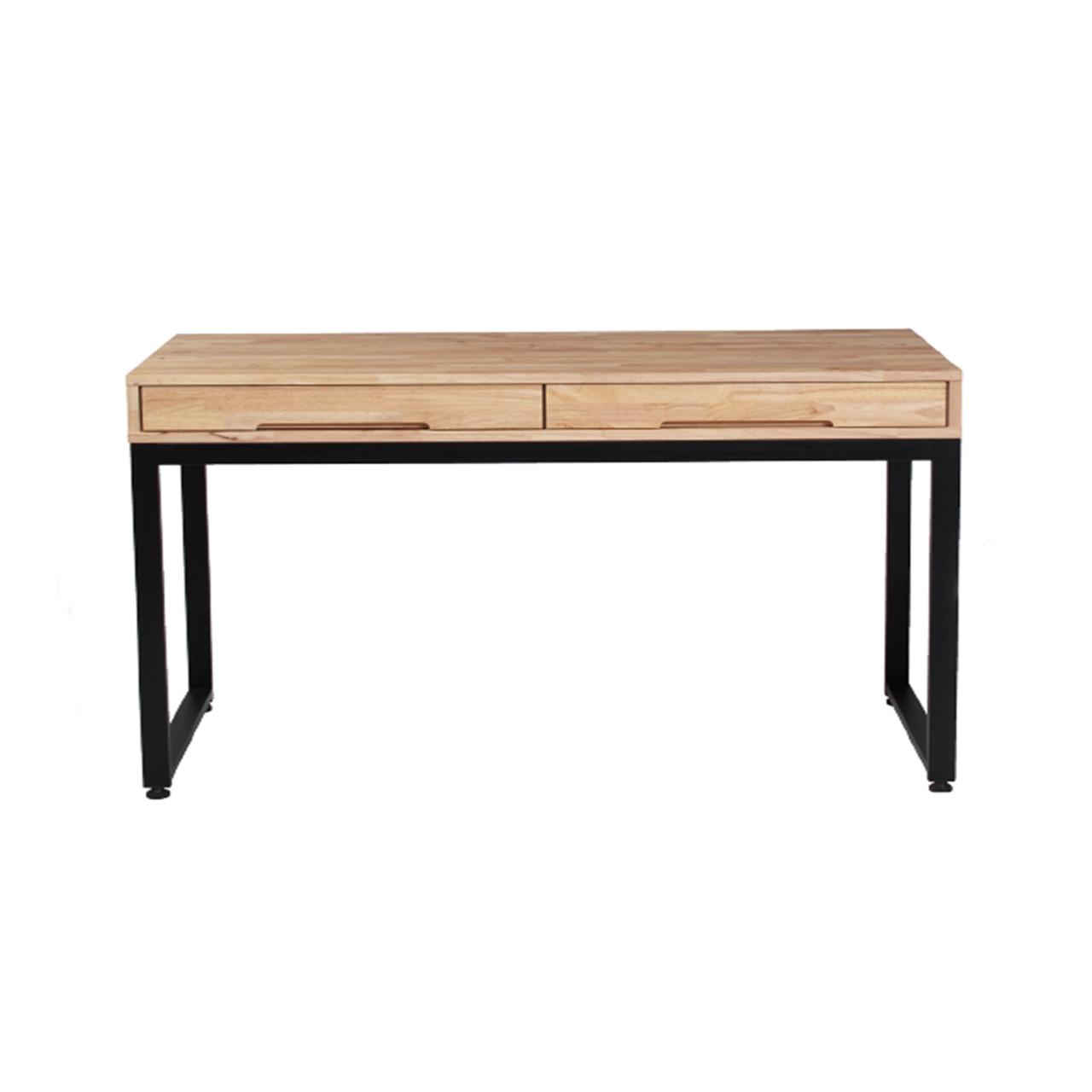 (새상품),(무료배송) 고무나무 원목 철제 책상(선착순 당일배송)