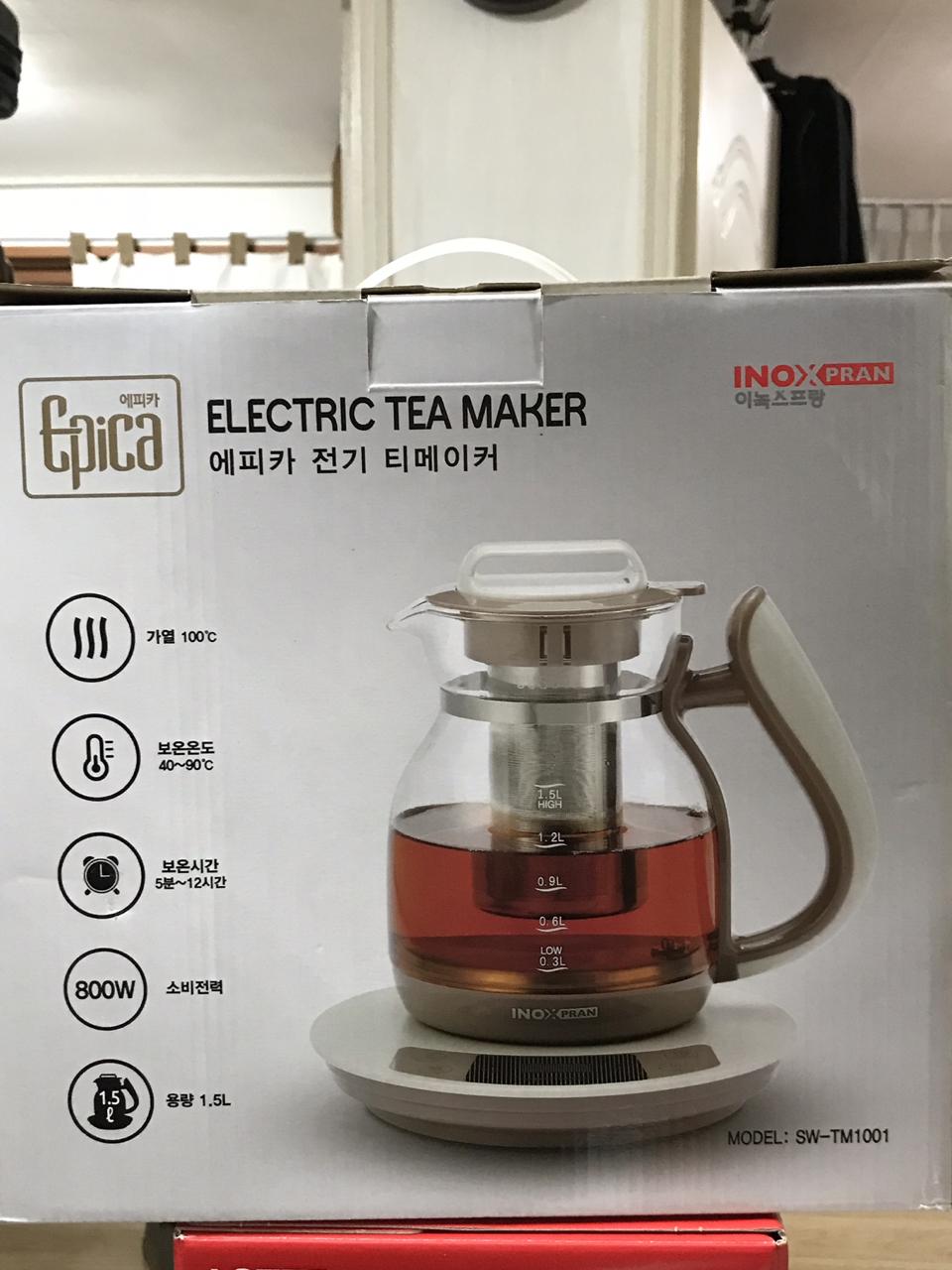 새상품 이녹스프랑 에피카 전기 티메이커 전기주전자