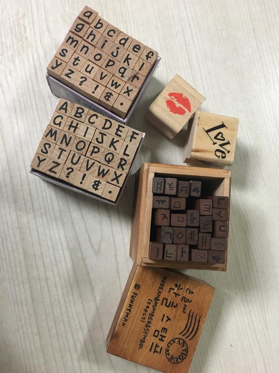 알파벳 대문자,소문자 & 한글 스탬프 (도장)