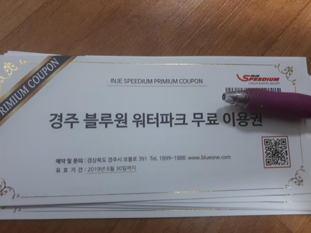 경주블루원워터파크입장권