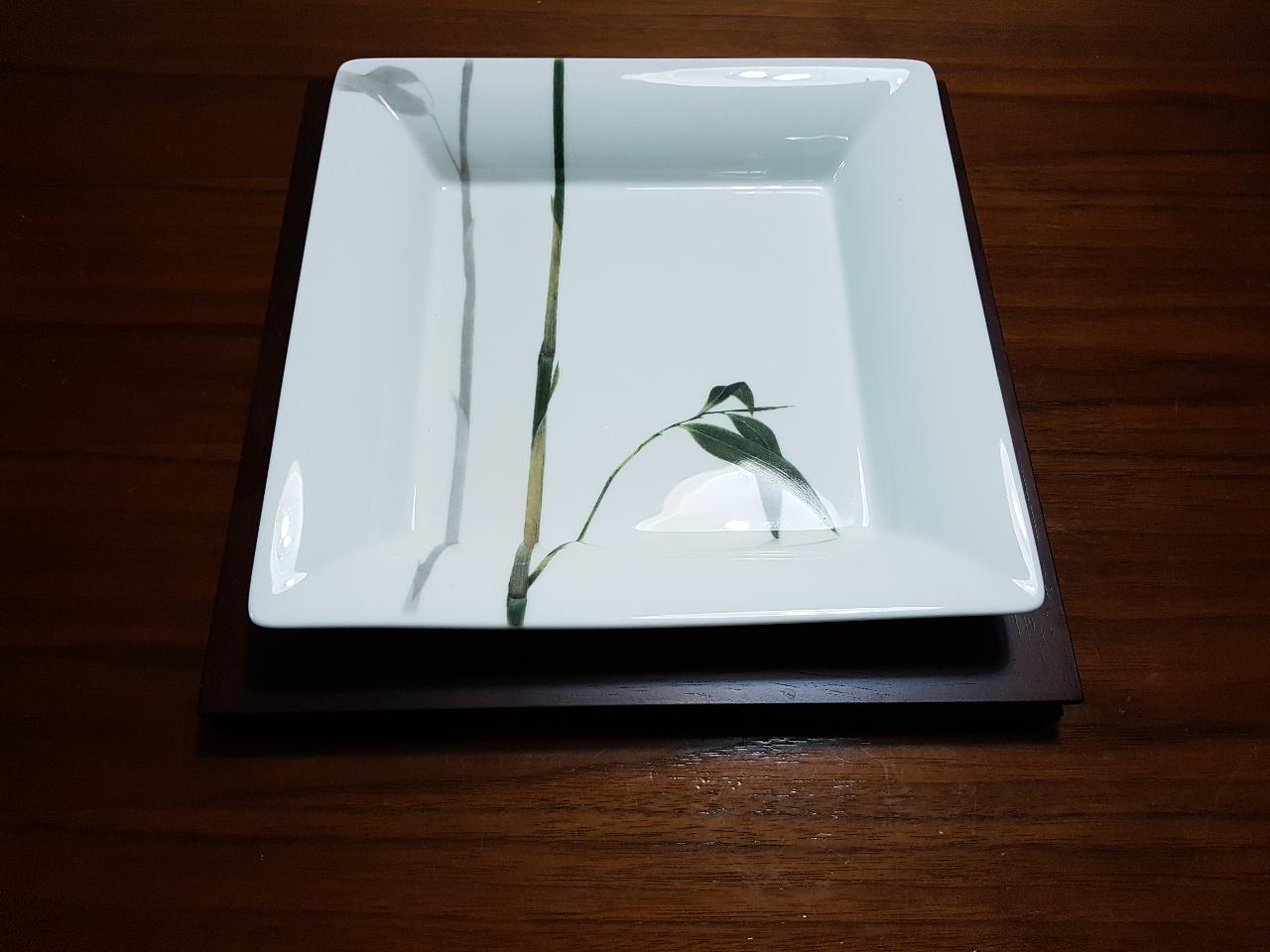 행남자기 뱀부 사각접시(대)