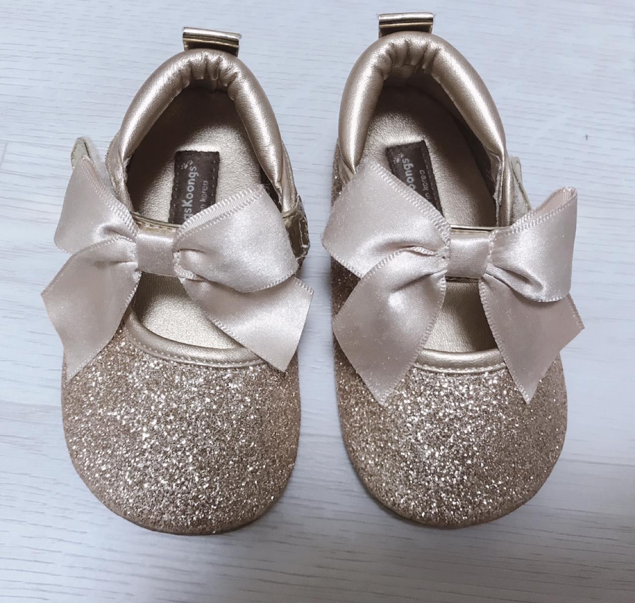 쿵스쿵스 팅커벨 골드 신발 : 135