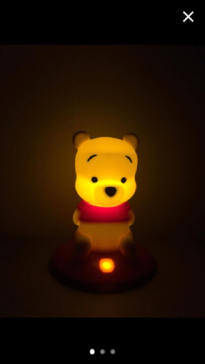 미사용.선물용.디즈니.푸우.램프