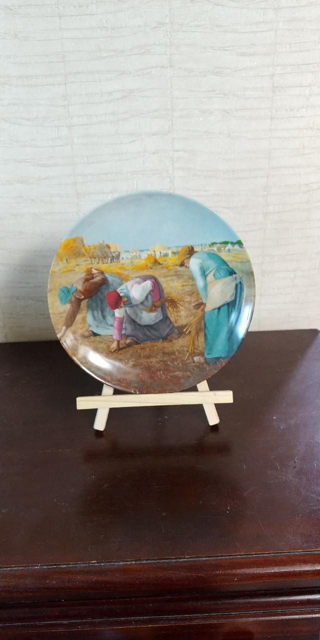 프랑스 Porcelaine d'art 작품 접시