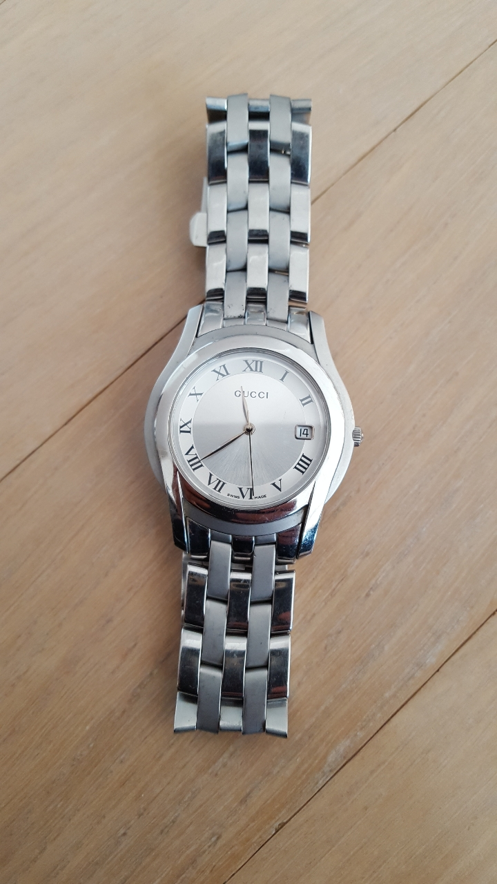 구찌 정품 메탈 시계