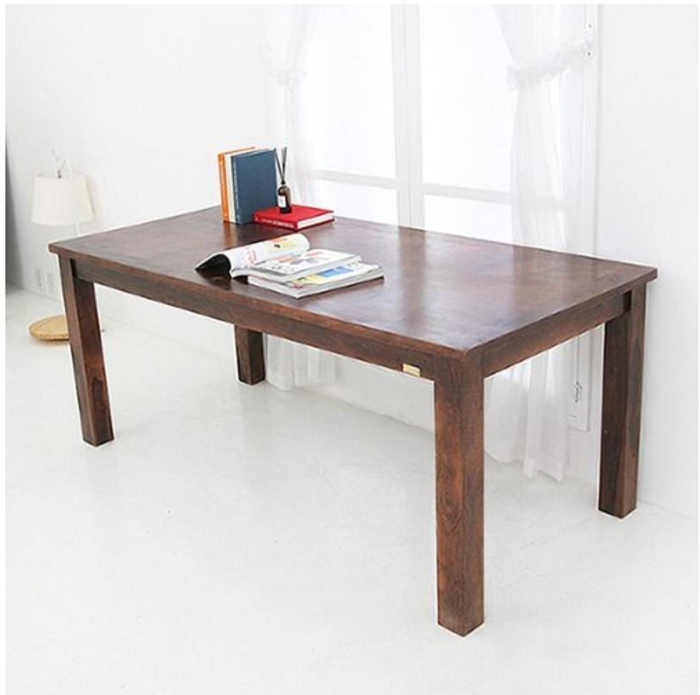 Vanessdeco 바네사데코 망고우드 식탁 & 공부 책상 테이블