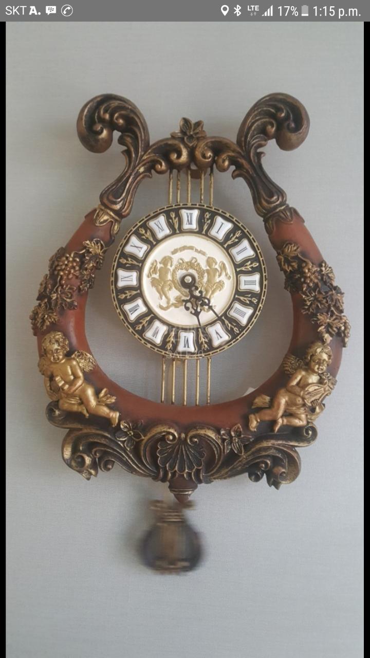 엔틱 수제 벽 시계