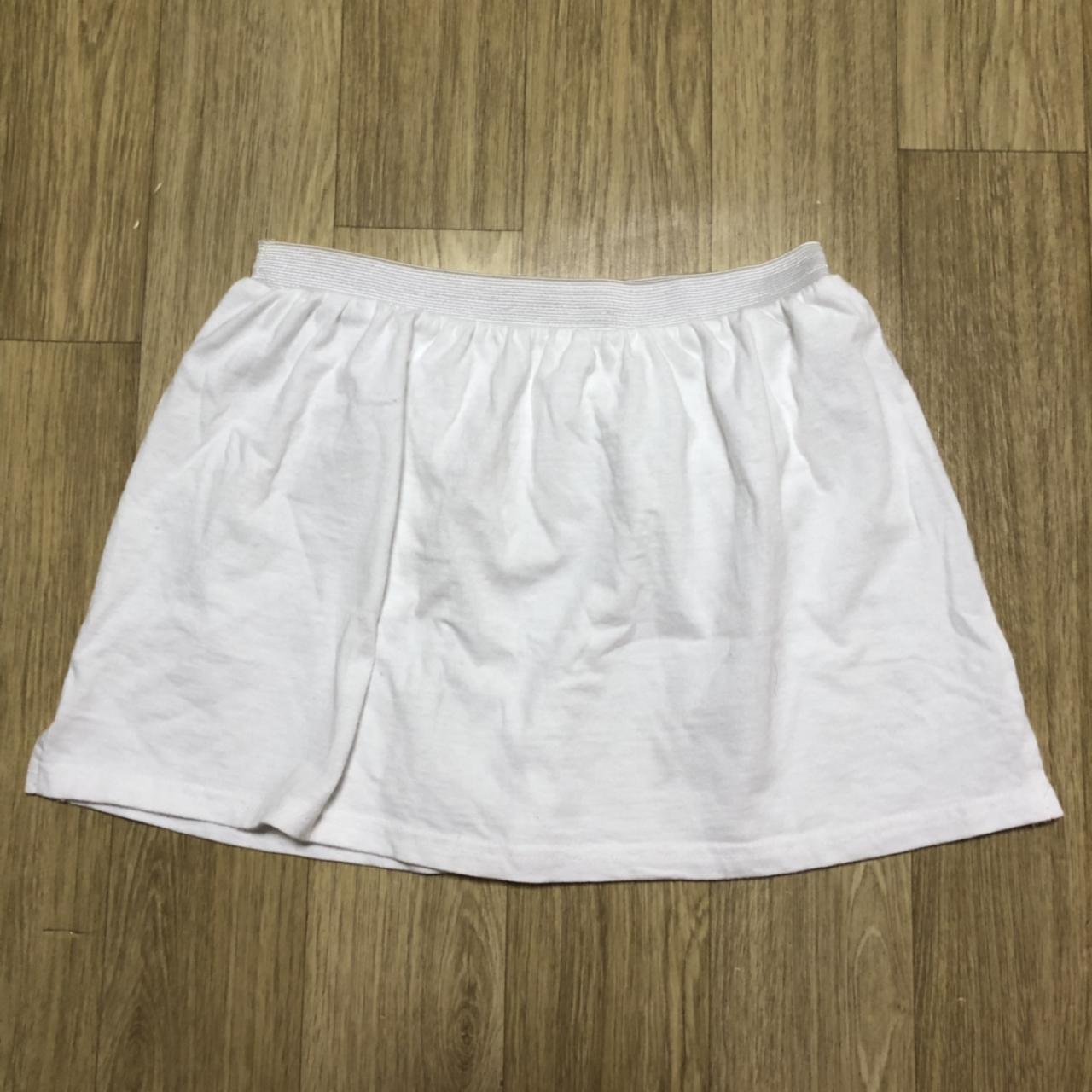레이어드 밴드 스커트 티셔츠 화이트 프리 xl