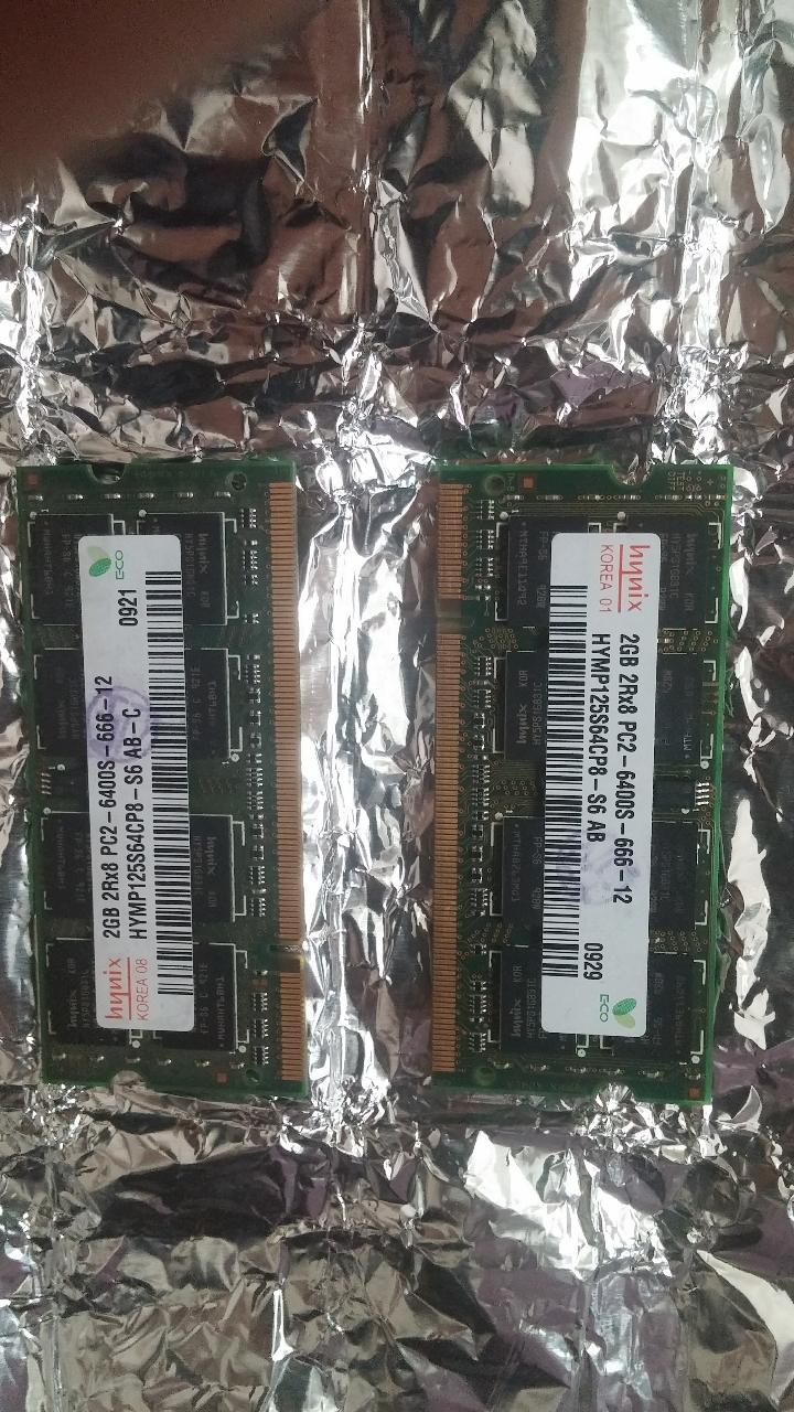 (업글하세요)노트북DDR2 2g 메모리2개