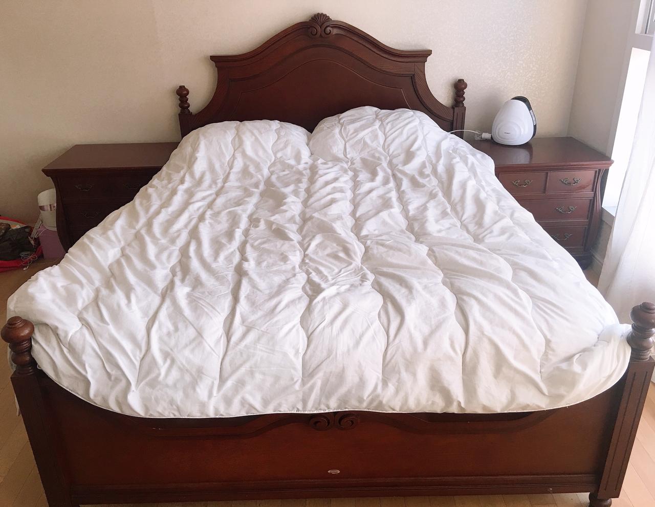 시몬스 침대 프레임+시몬스 협탁 2개(좌우)