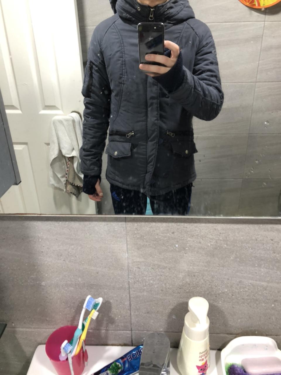 남자 겨울 봄버스타일 자켓 M 95 사이즈 싸게 내놓습니다