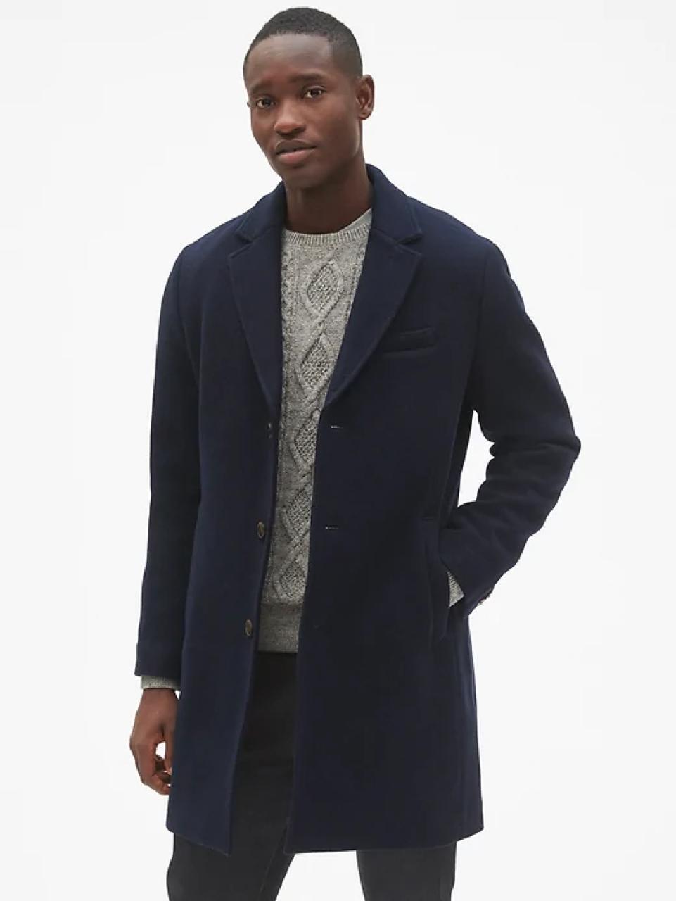 [GAP/갭] 남성 코트Wool Blend Topcoat 울 혼방 코트 새제품 Navy S사이즈 남성 코트 판매