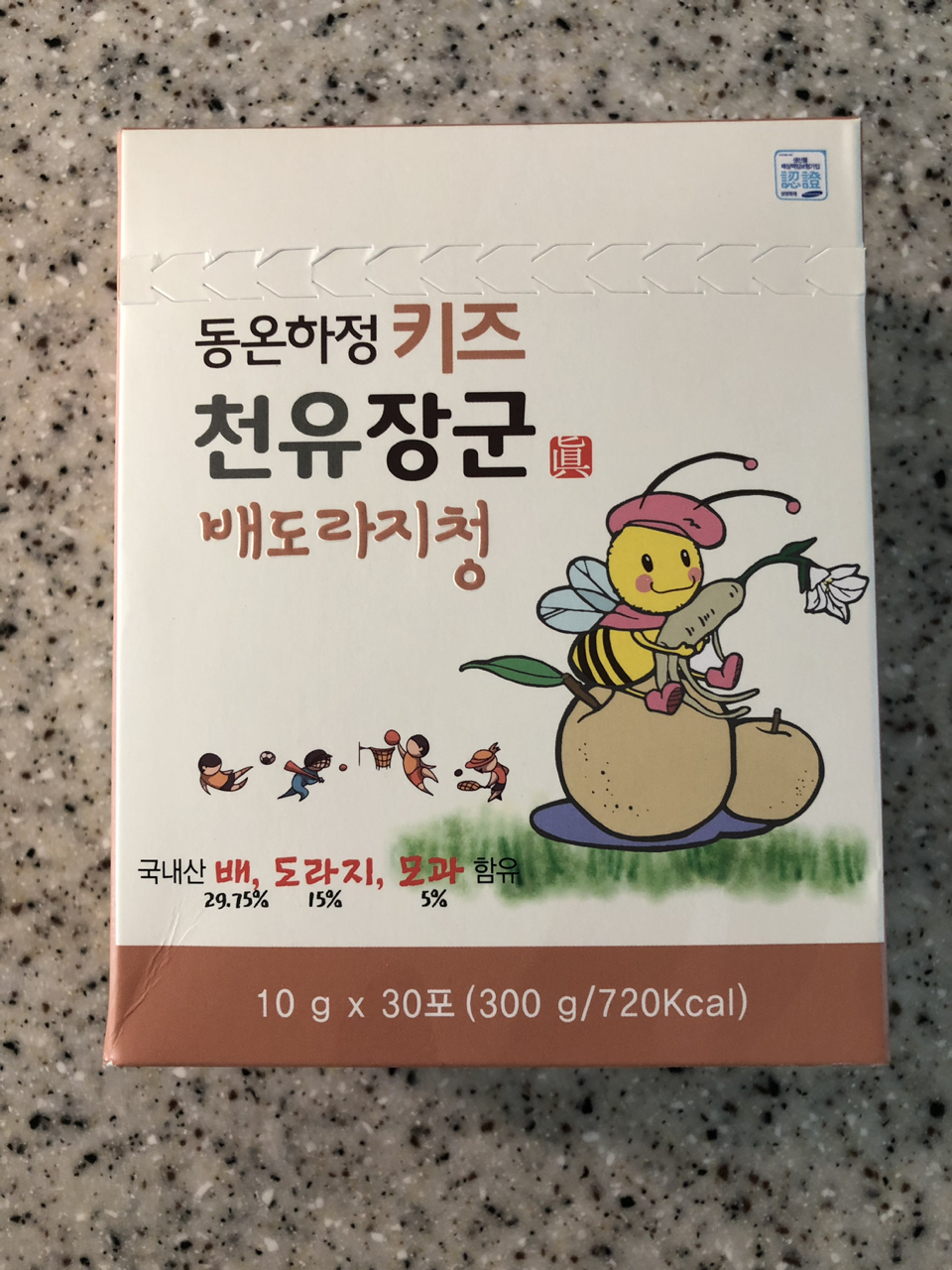천유장군 키즈 배도라지청(미개봉새상품, 30포1box)