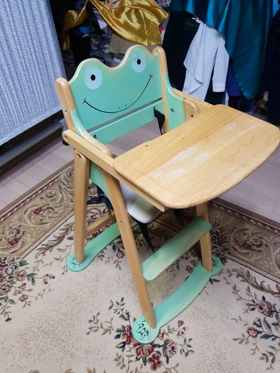 파격내림)유아 원목 식탁의자(개구리 모양) 개구리식탁의자,