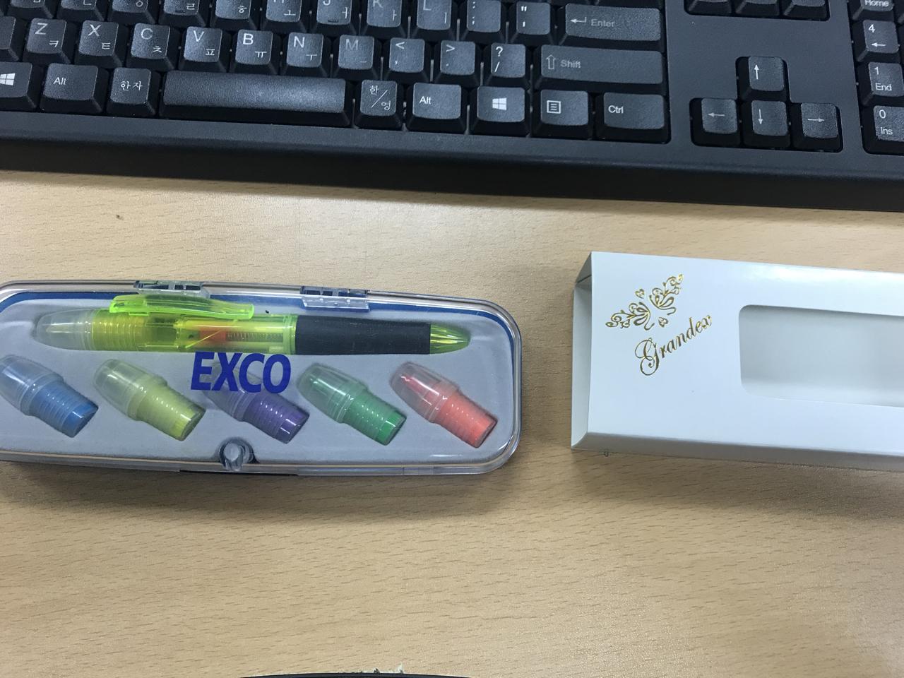 멀티펜+5색형광펜