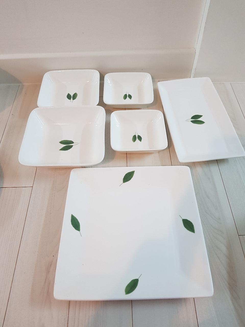 그릇/접시/앞접시/사각접시