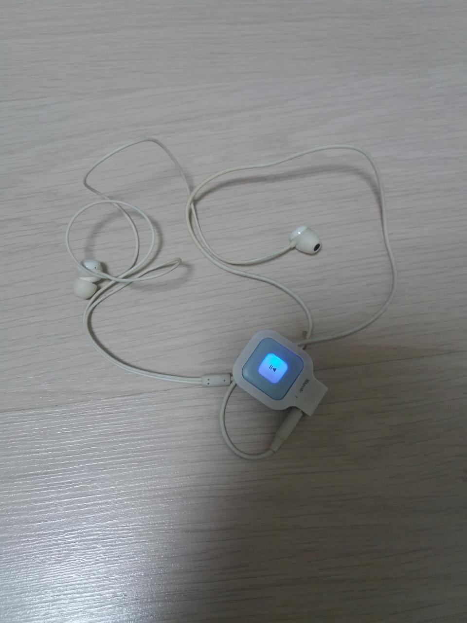 블루투스 이어폰아이리버 mp3(휴대폰연결)거의 새거