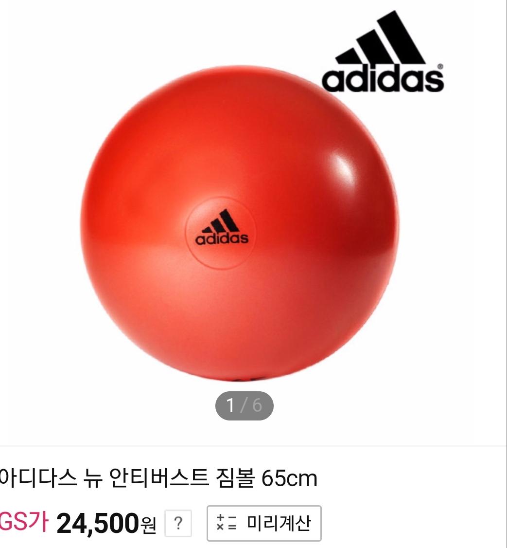 (새제품) 아디다스 adidas 짐볼 65cm
