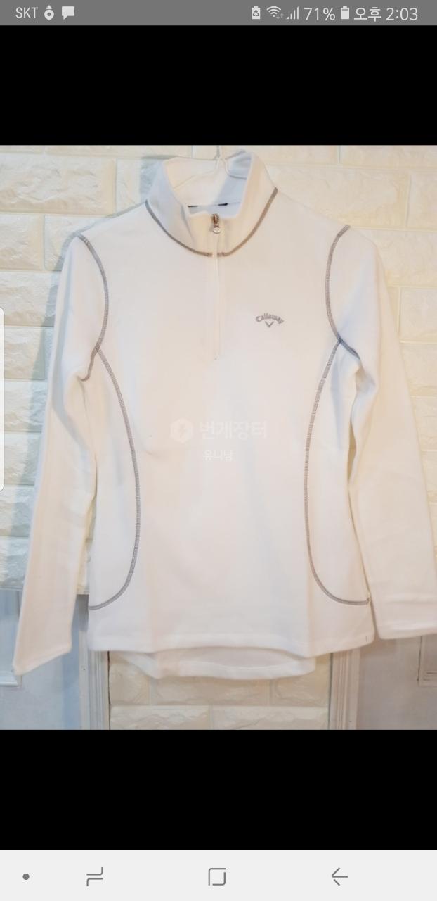 (정품) 캘러웨이 여성골프웨어 하이넥티셔츠 팝니다