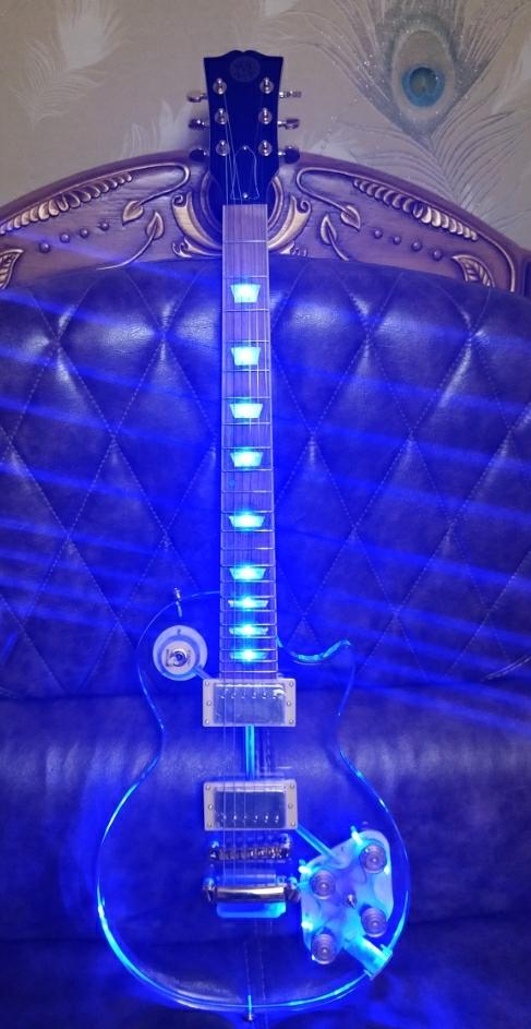 LED 일렉기타 Gibson style 전자기타 아크릴 기타