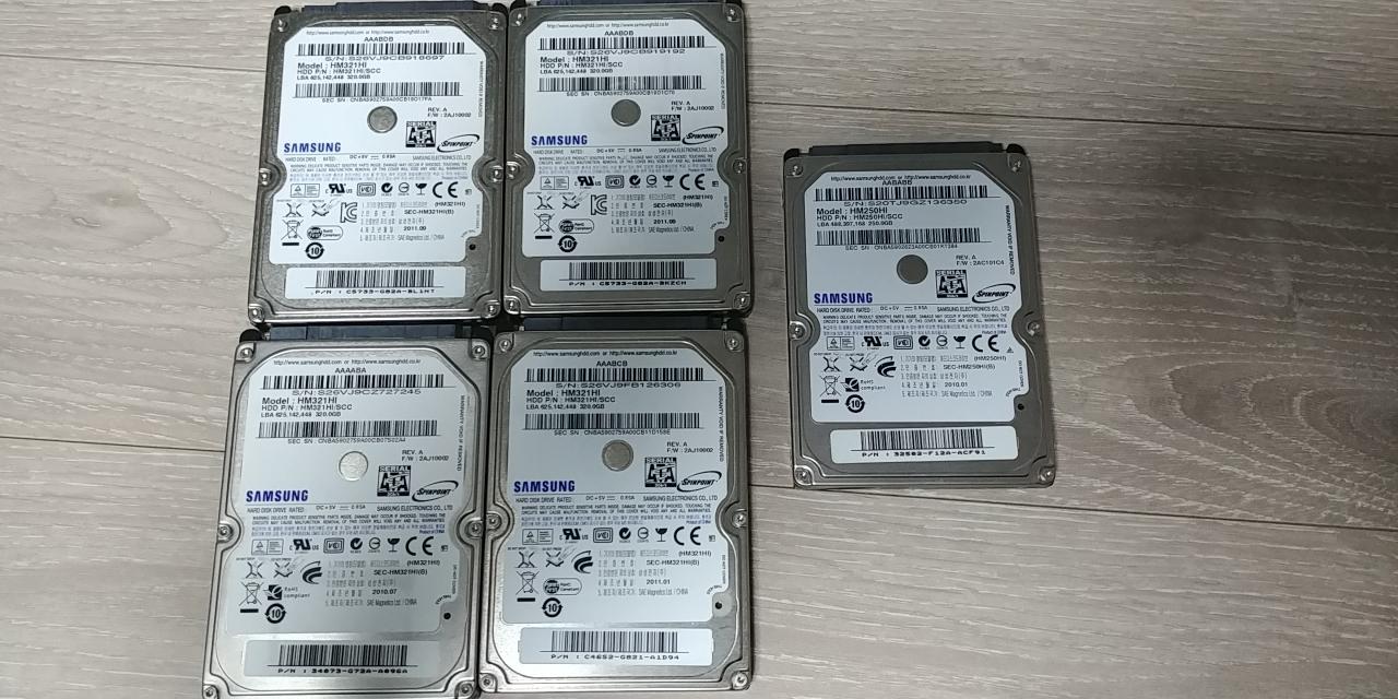 삼성 노트북 하드 HDD 4개 일괄 판매(가격더내림)