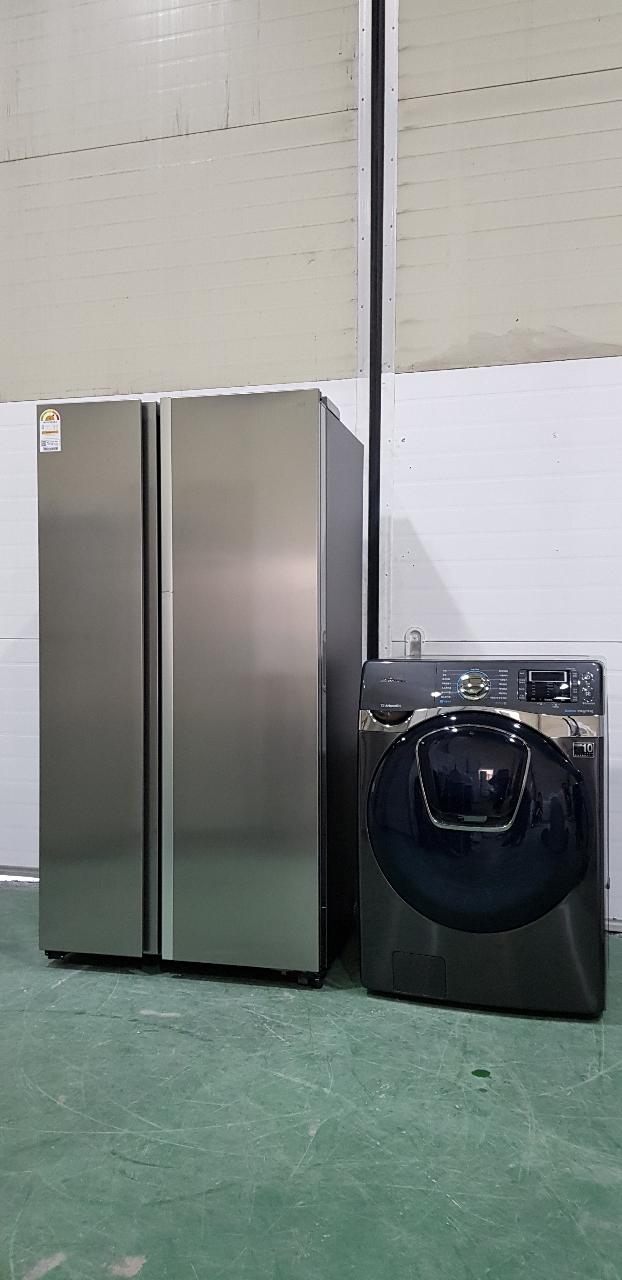 삼성지펠 2018년식 양문형냉장고+드럼세탁기 신형급세트 파주중고가전
