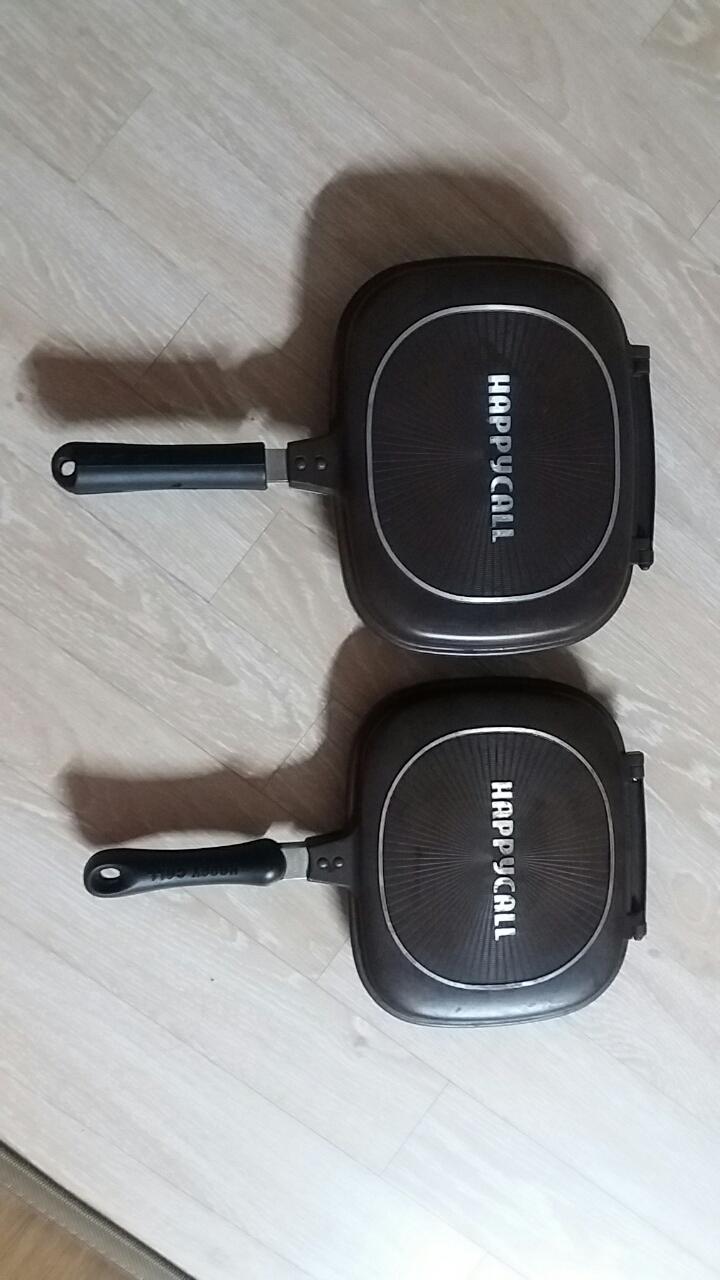 해피콜 양면팬 2종세트
