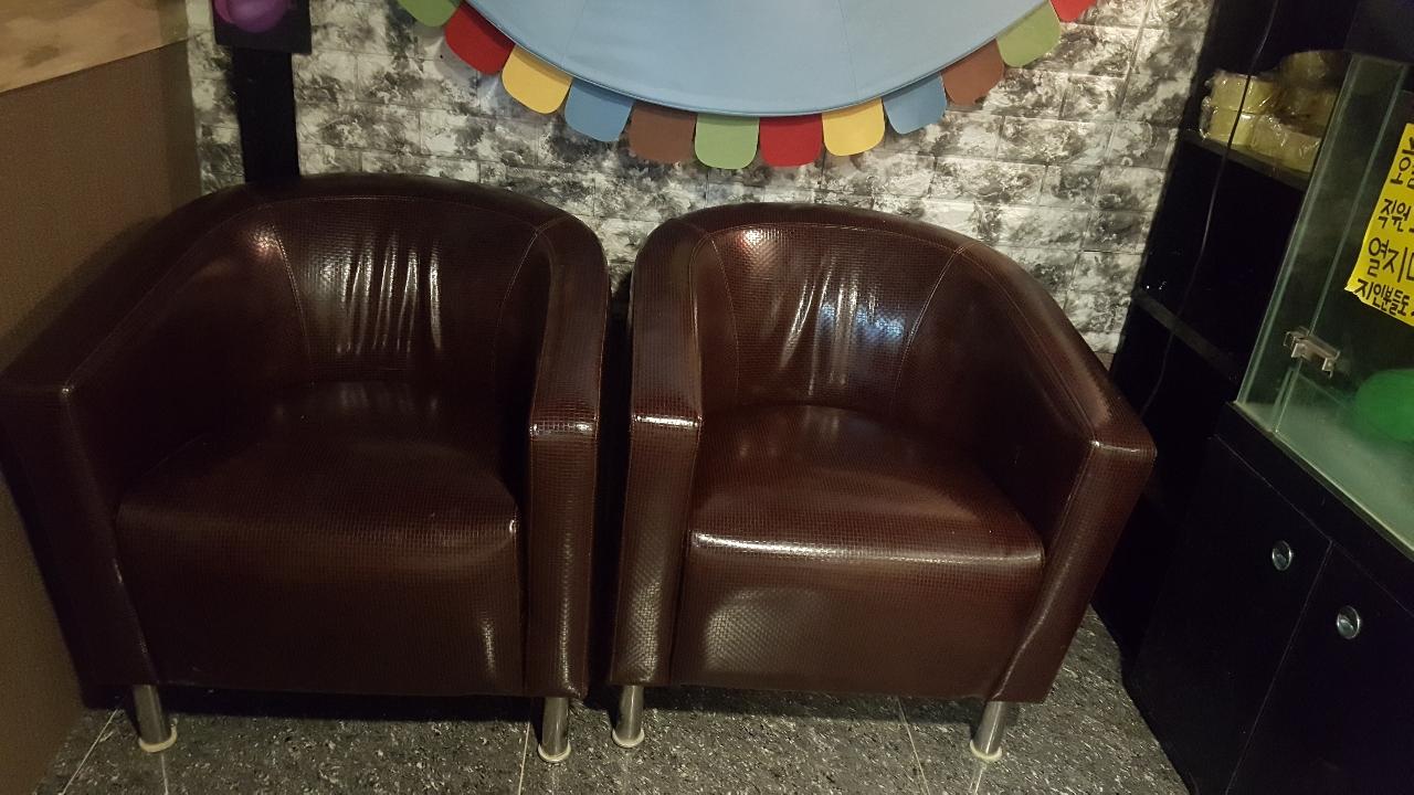 쇼파의자 편안한 의자 2개