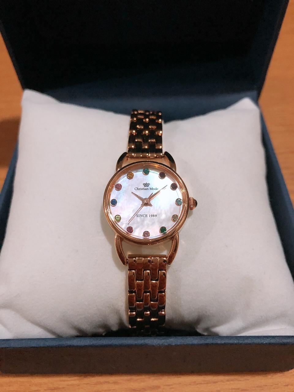 크리스챤모드 여성 메탈 시계
