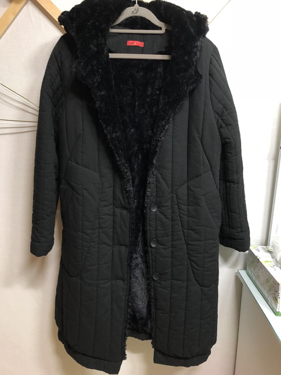 (여성 코트) 검정 인모 코트