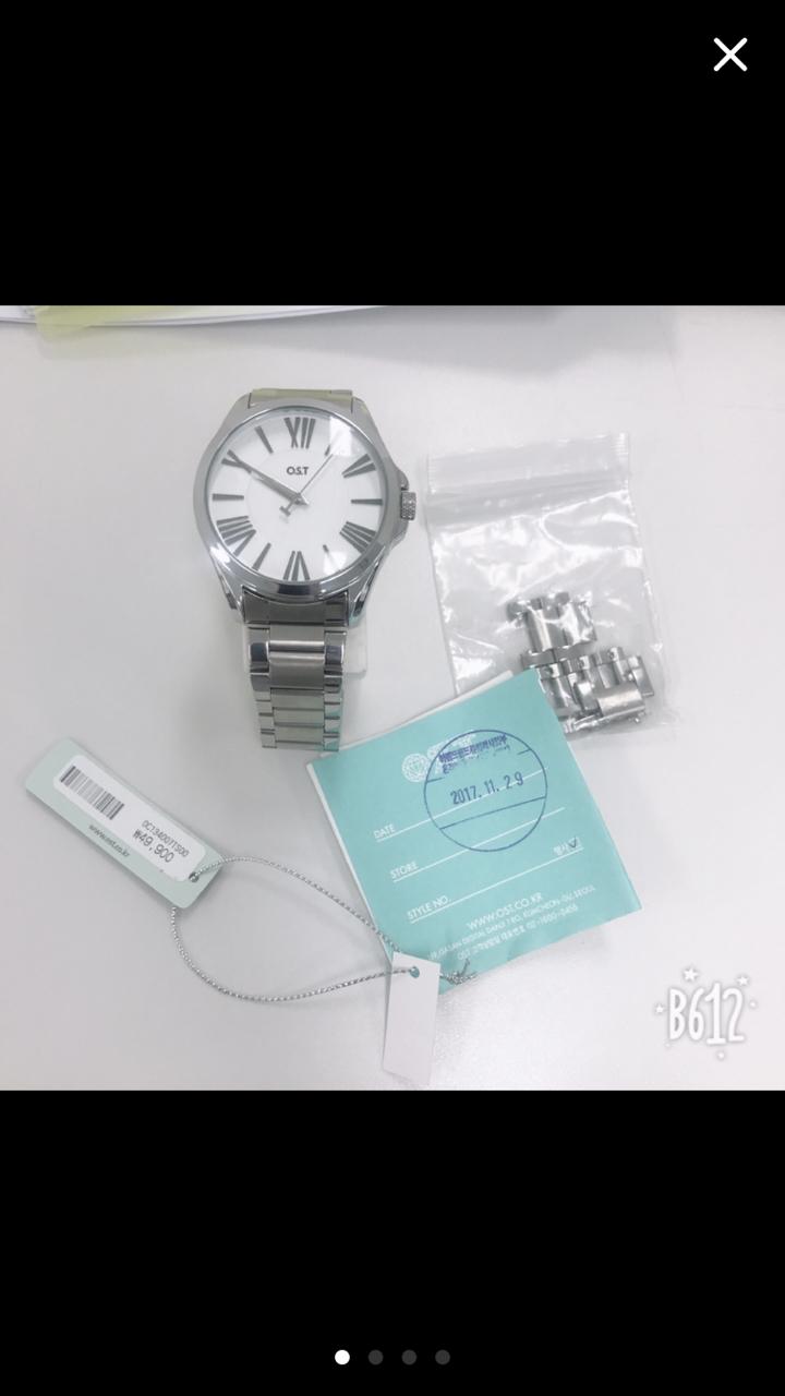 ost 메탈 남녀공용 시계