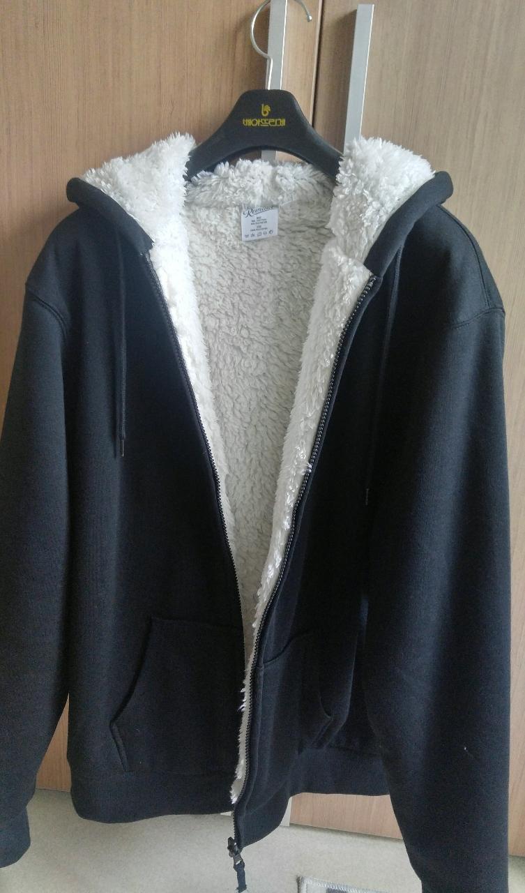 새제품)남녀공용 보아털 후드집업
