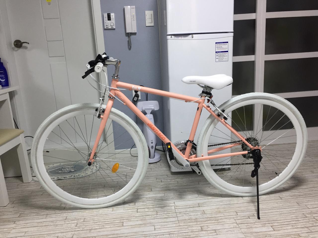 여성용 하이브리드 자전거 팝니다!(인디핑크)