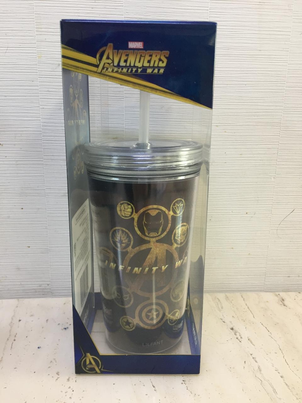 새상품 마블 어벤져스 아이스 텀블러 물통 컵