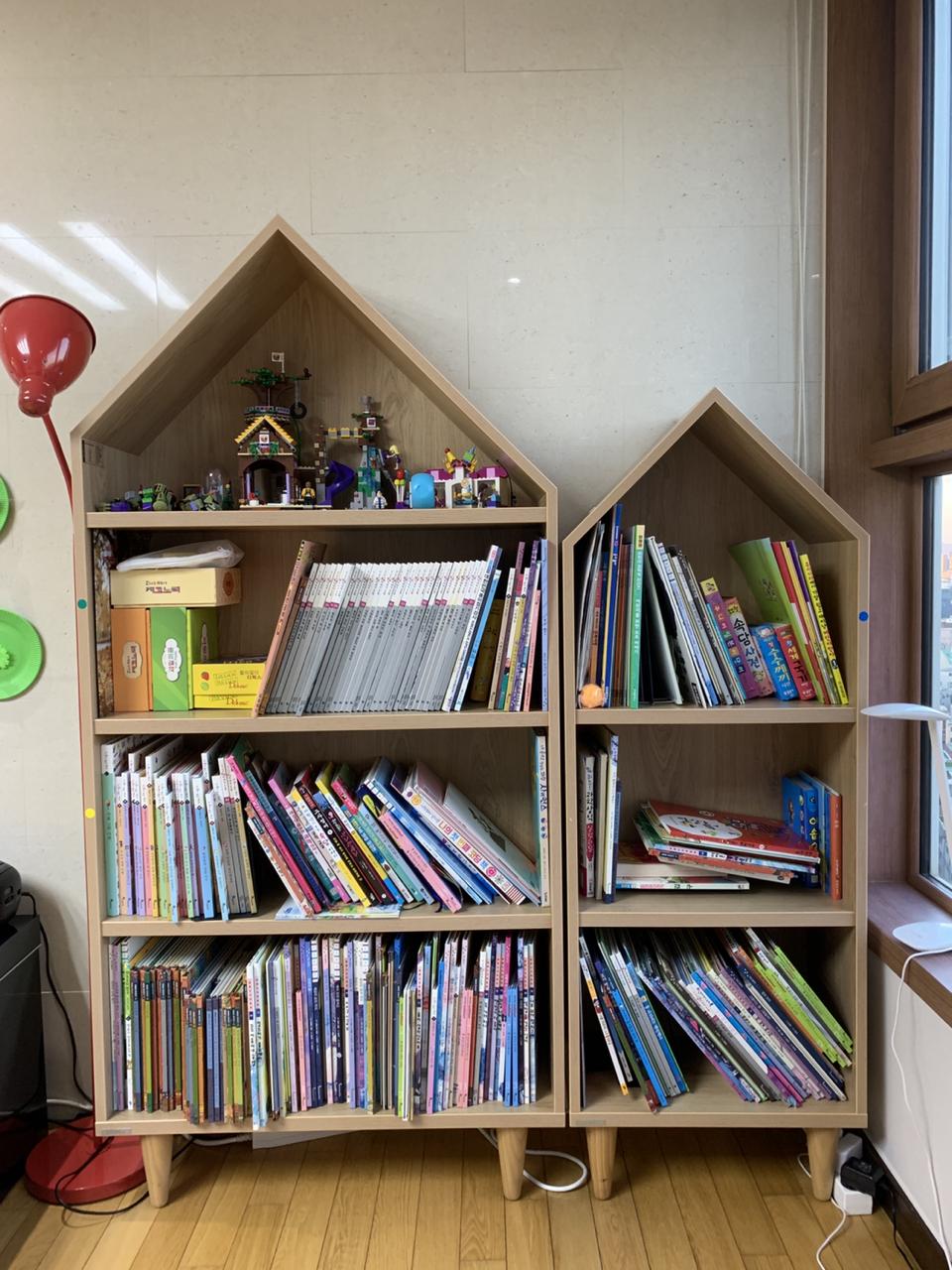 리바트 집과 책나무 책꽂이 하우스 2개 (책장)