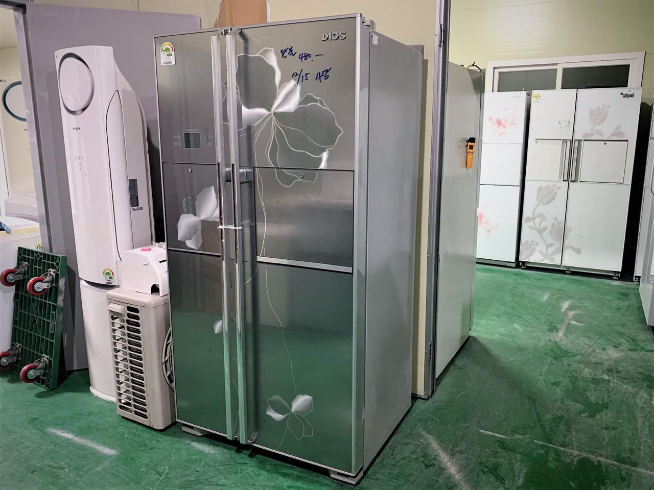 지펠 메탈 양문형 냉장고