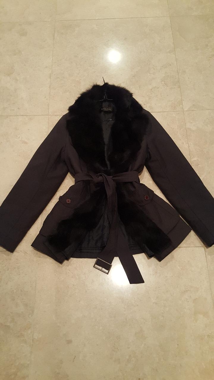 IZZAT BABA(코트와 자켓, 점퍼 아우터로) 아이잗 폭스퍼 내피 탈부착 코트