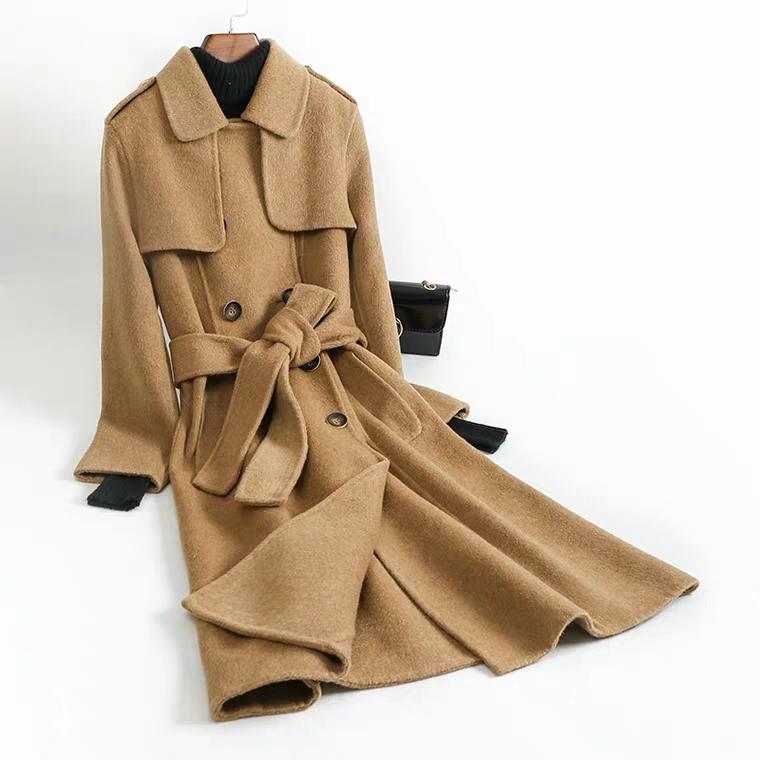(새상품) 모직 트렌치 코트