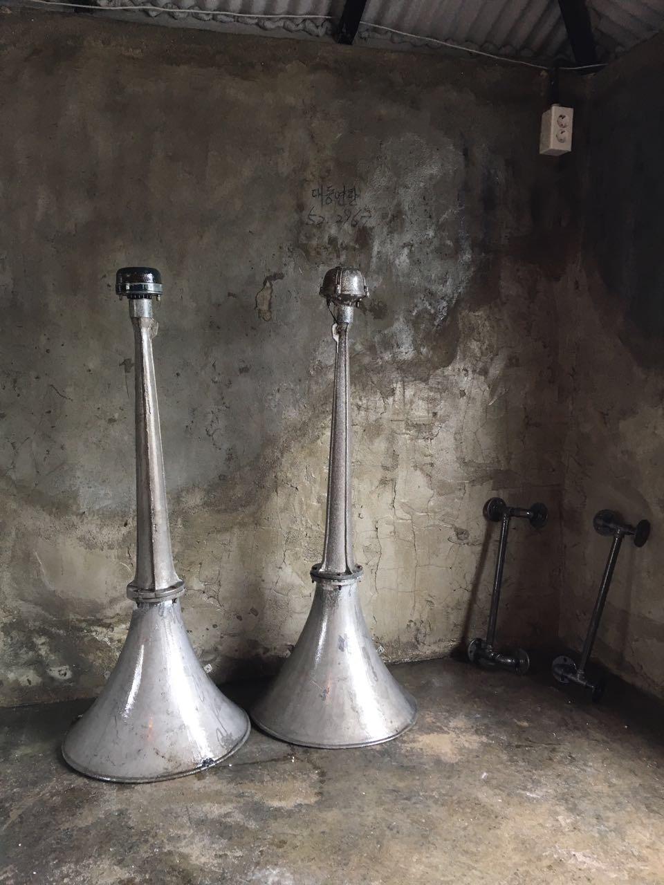 시골 마을회관 확성기 두개
