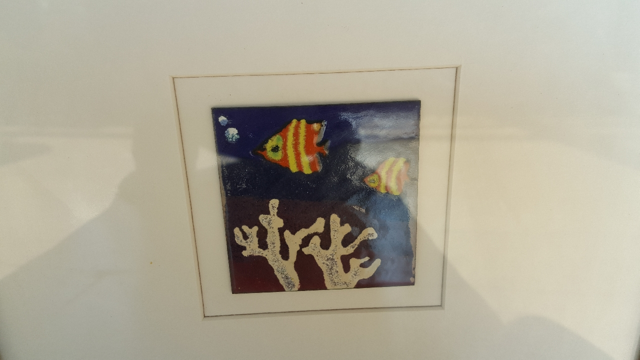 물고기 동판화