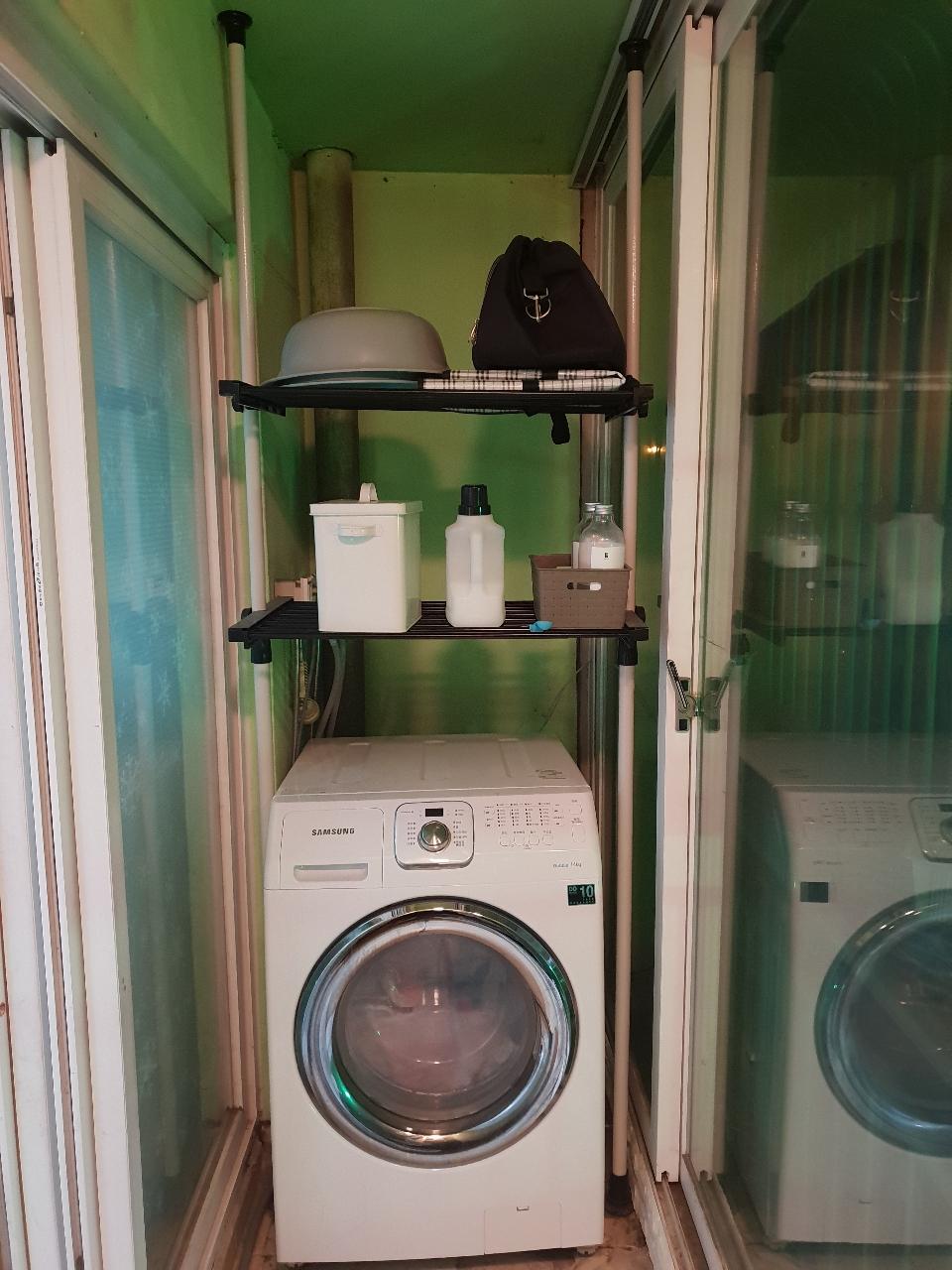 왕자헹거 세탁기 2단선반