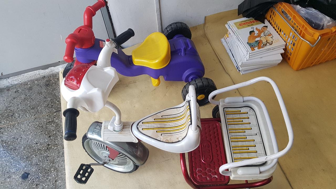 유아 자전거 세발자전거2대