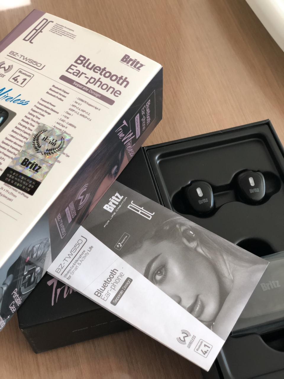 브리츠 BZ-TWS50 완전무선 블루투스 이어폰