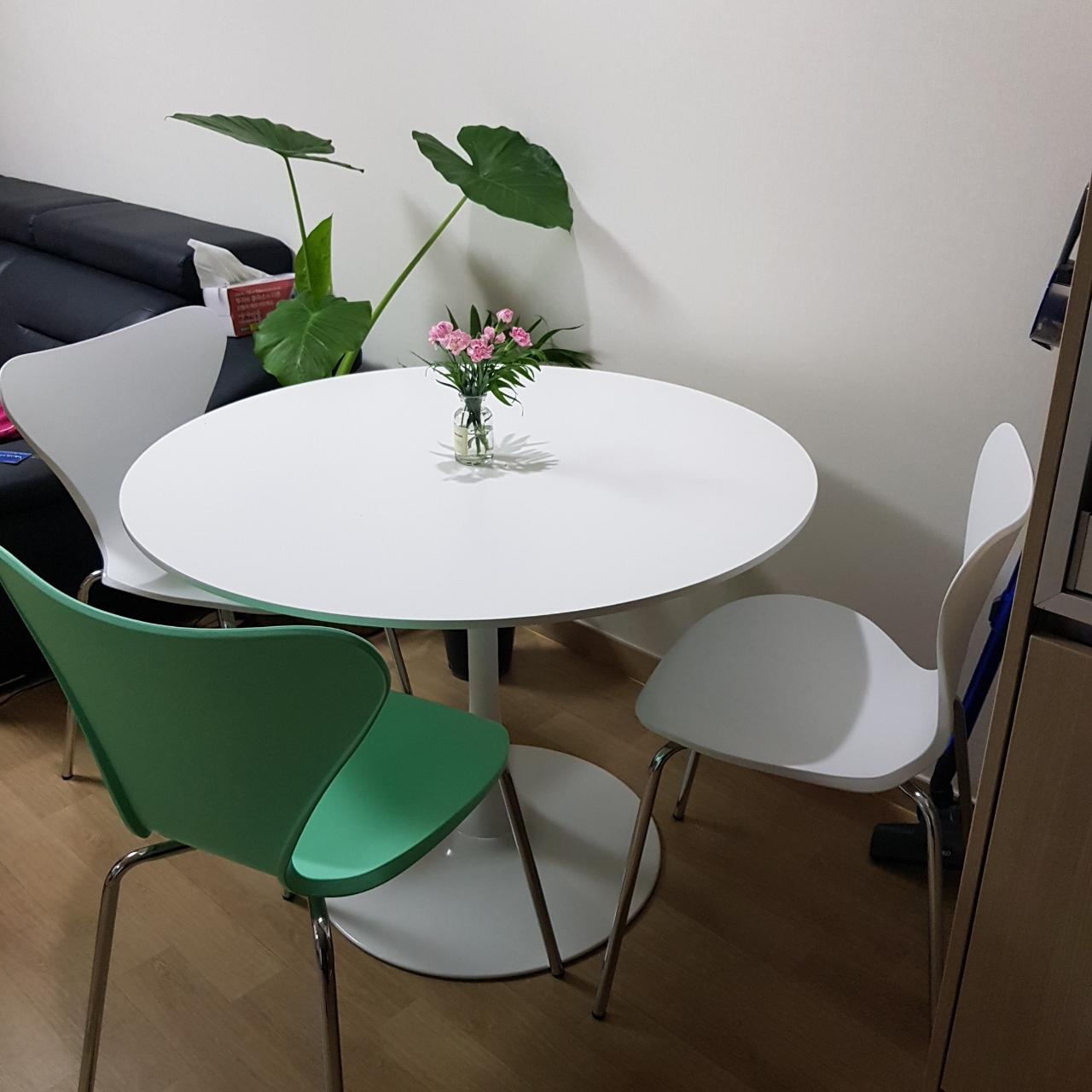 의자4개 검정 흰색 민트