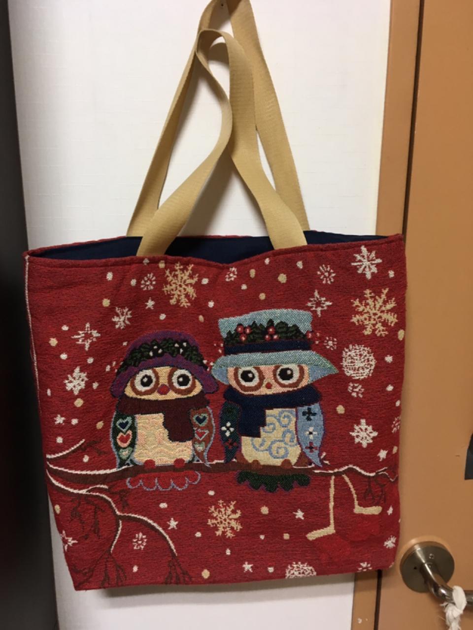 빅백 레드 천가방 기저귀 가방 숄더백 큰 가방 에코백