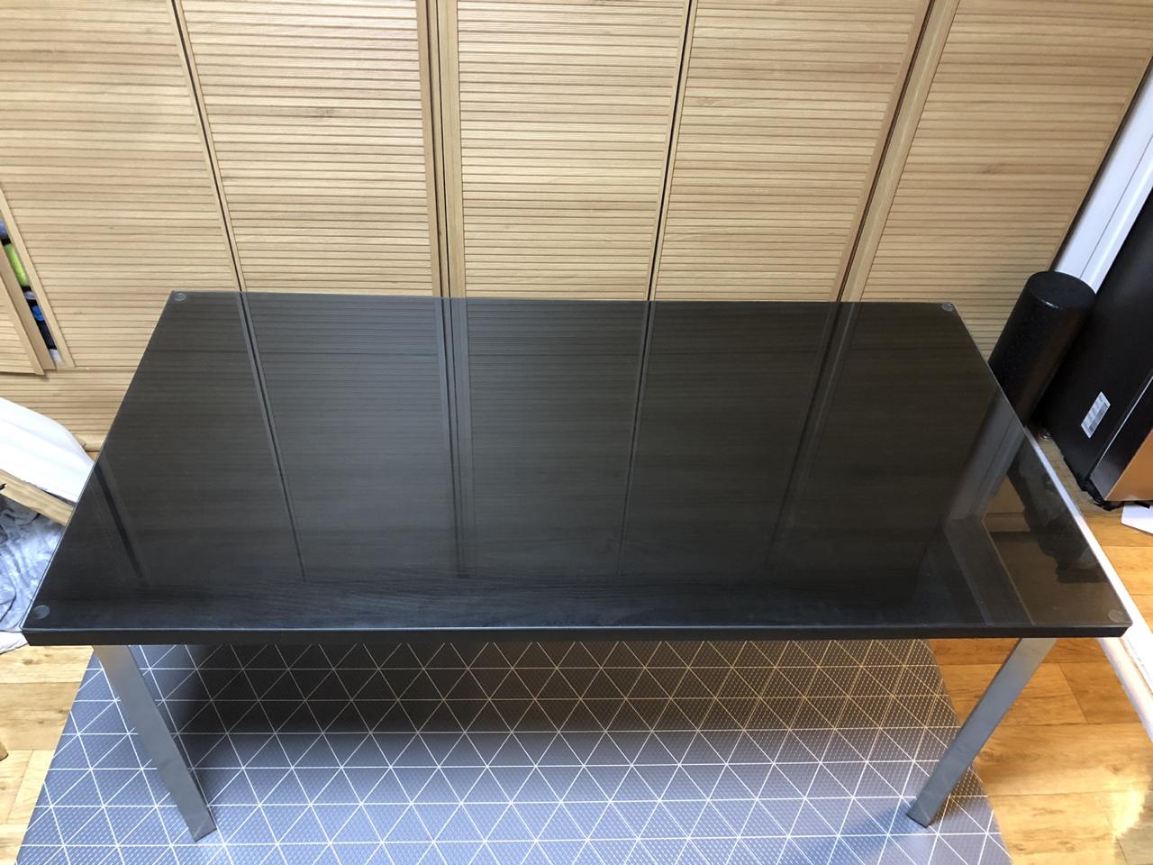 이케아 테이블 (유리포함)